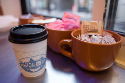 Boston Brewin cup of coffee