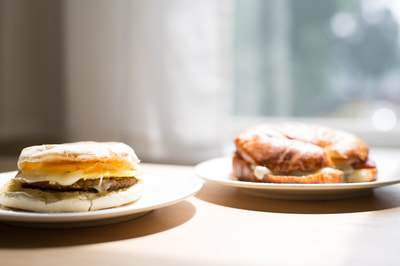 Boston Brewin breakfast sandwiches